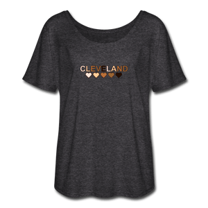 Cleveland Hearts Women's Flowy T-Shirt - charcoal gray