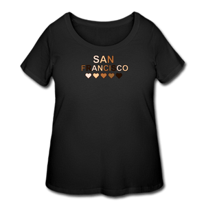 SF Hearts Women's Curvy T-Shirt - black
