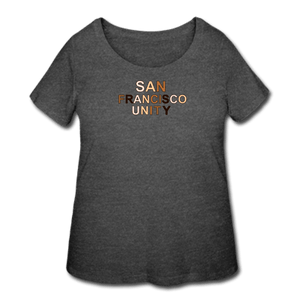 SF Unity Women's Curvy T-Shirt - deep heather