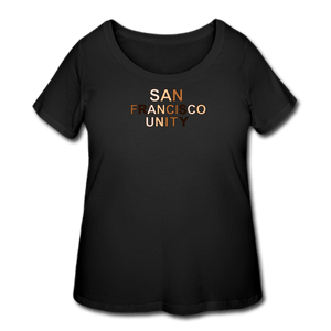 SF Unity Women's Curvy T-Shirt - black