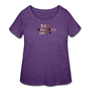 SF Unity Women's Curvy T-Shirt - heather purple