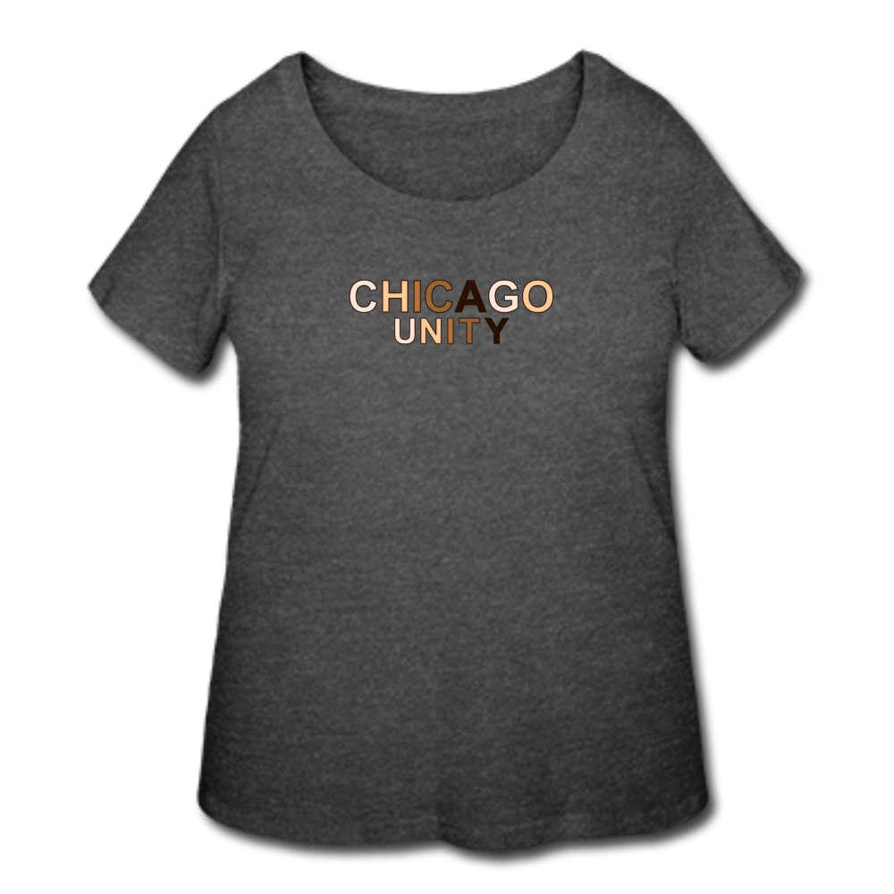 Chi Unity Women's Curvy T-Shirt - heather purple