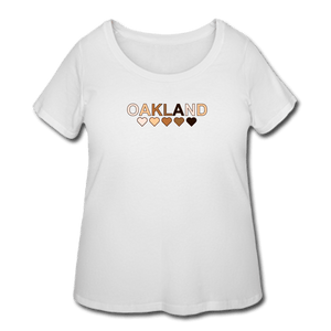 Oakland Hearts Women's Curvy T-Shirt - white