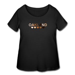 Oakland Hearts Women's Curvy T-Shirt - black