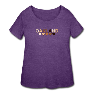 Oakland Hearts Women's Curvy T-Shirt - heather purple