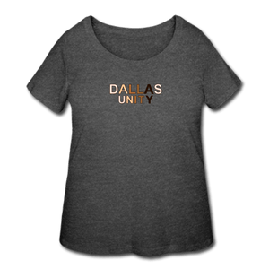 Dallas Unity Women's Curvy T-Shirt - deep heather