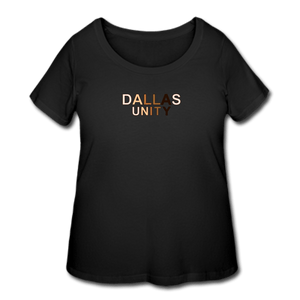 Dallas Unity Women's Curvy T-Shirt - black