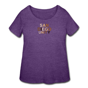 SD Unity Women's Curvy T-Shirt - heather purple
