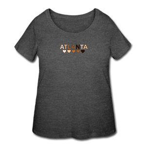 Atl Hearts Women's Curvy T-Shirt - deep heather