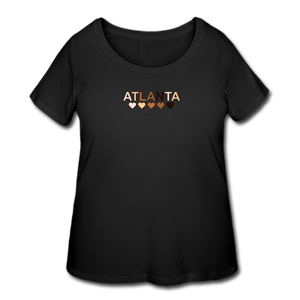 Atl Hearts Women's Curvy T-Shirt - black