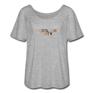 Portland Unity Women's Flowy T-Shirt - heather gray