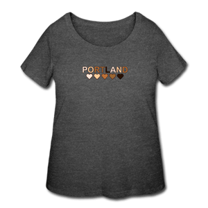 Portland Hearts Women's Curvy T-Shirt - deep heather