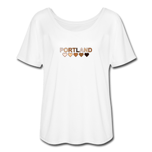 Portland Hearts Women's Flowy T-Shirt - white