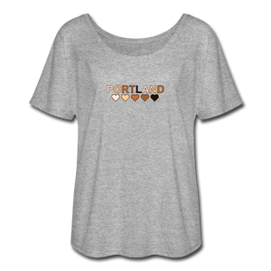 Portland Hearts Women's Flowy T-Shirt - heather gray