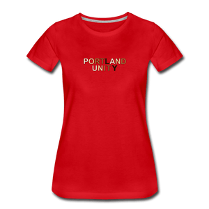 Portland Unity Women's Premium T-Shirt - red