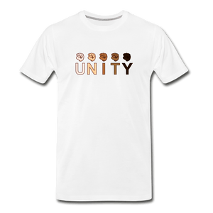 Unity Fist Men's Premium T-Shirt - white