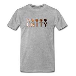 Unity Fist Men's Premium T-Shirt - heather gray