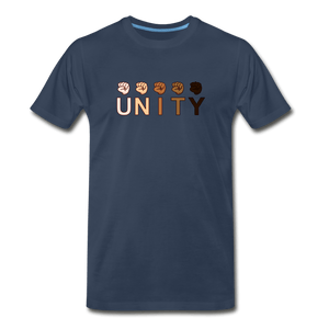 Unity Fist Men's Premium T-Shirt - navy