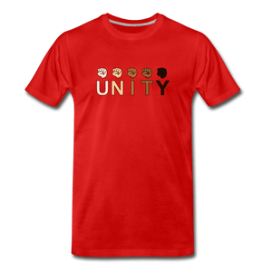 Unity Fist Men's Premium T-Shirt - red