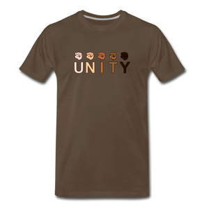 Unity Fist Men's Premium T-Shirt - noble brown