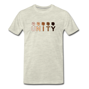 Unity Fist Men's Premium T-Shirt - heather oatmeal