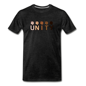 Unity Fist Men's Premium T-Shirt - charcoal gray