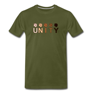 Unity Fist Men's Premium T-Shirt - olive green