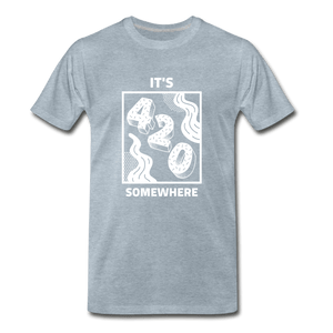 420 Somewhere Men's Premium T-Shirt - Fitted Clothing Company