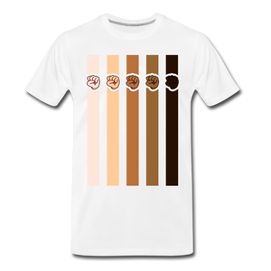 U Fist Stripes Men's Premium T-Shirt - white