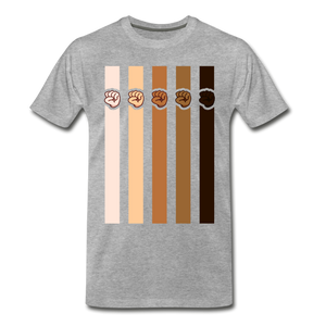 U Fist Stripes Men's Premium T-Shirt - heather gray