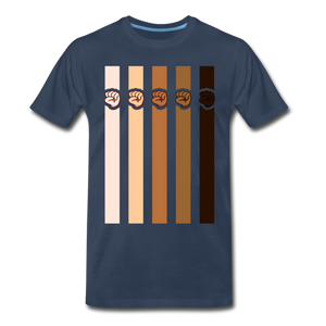 U Fist Stripes Men's Premium T-Shirt - navy
