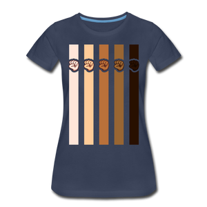 U Fist Stripes Women's Premium T-Shirt - navy