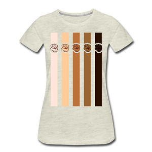 U Fist Stripes Women's Premium T-Shirt - heather oatmeal