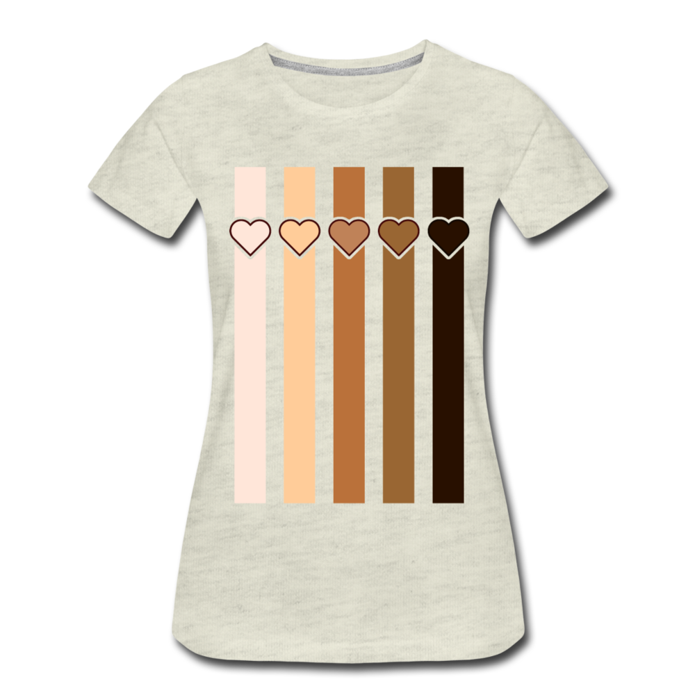 U Hearts Stripes Women's Premium T-Shirt - white