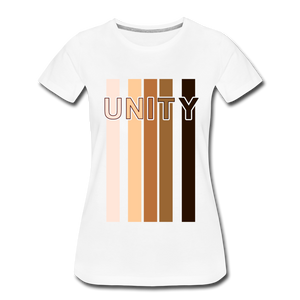 Unity Stripes Women's Premium T-Shirt - white