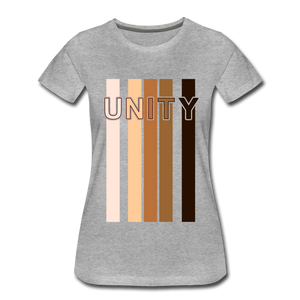 Unity Stripes Women's Premium T-Shirt - heather gray