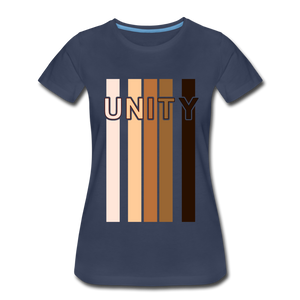 Unity Stripes Women's Premium T-Shirt - navy