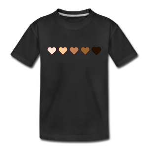 U Hearts Toddler Premium T-Shirt - black