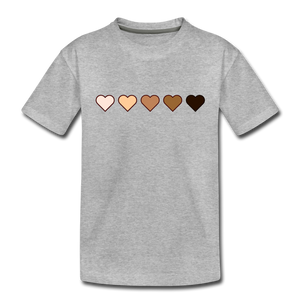 U Hearts Toddler Premium T-Shirt - heather gray