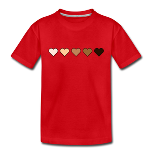 U Hearts Toddler Premium T-Shirt - red