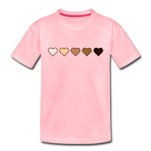 U Hearts Toddler Premium T-Shirt - pink