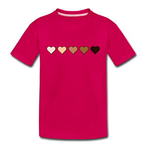 U Hearts Toddler Premium T-Shirt - dark pink
