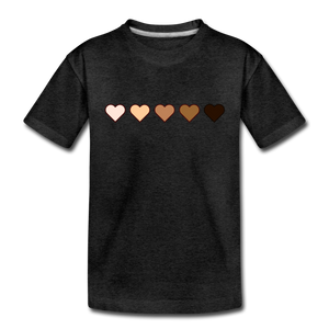 U Hearts Toddler Premium T-Shirt - charcoal gray