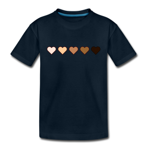 U Hearts Toddler Premium T-Shirt - deep navy