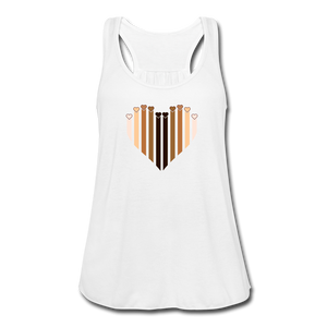 U Hearts Heart Women's Flowy Tank Top - white