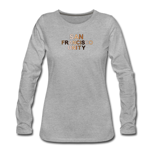 SF Unity Women's Premium Long Sleeve T-Shirt - heather gray