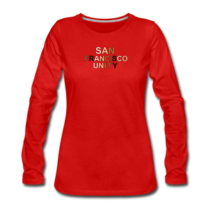 SF Unity Women's Premium Long Sleeve T-Shirt - red