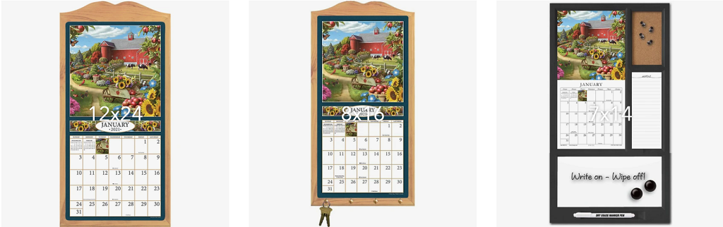 Shop Calendars by Sizes