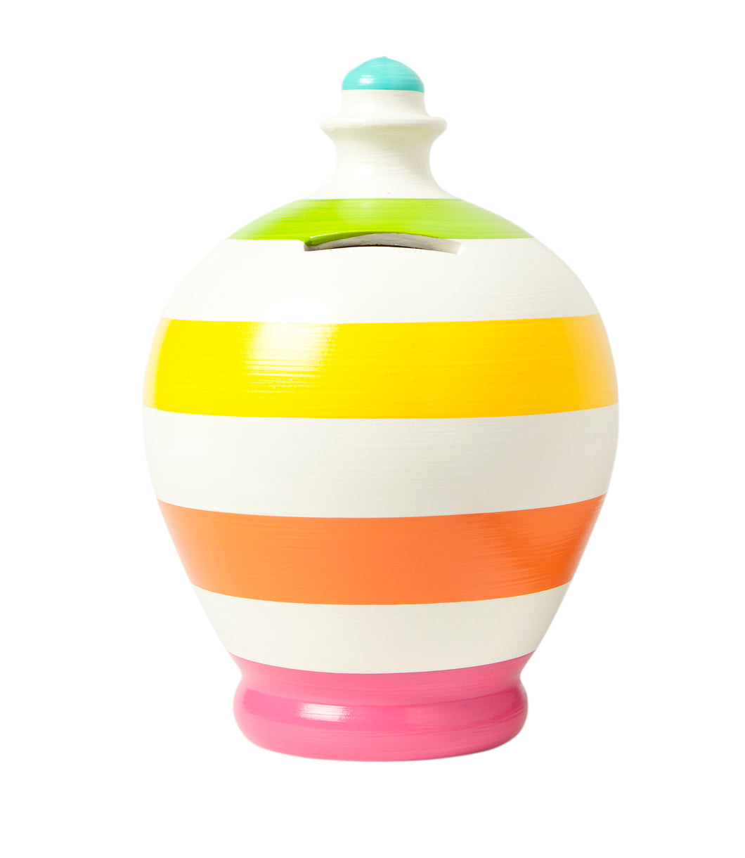 Terramundi Pot - Stripe White/Multi Colours