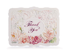 Load image into Gallery viewer, Apricot Roses & Lace Thank You Card Set